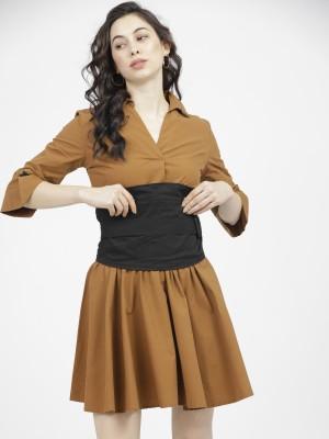Solid Shirt Dress