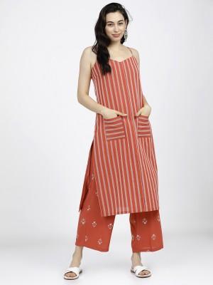 Straight Striped Striped Kurtas