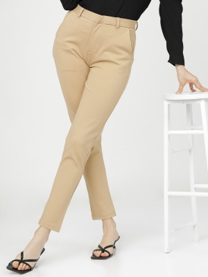 Solid Slim Fit Trousers