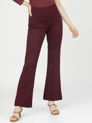 Solid Regular Fit Trousers