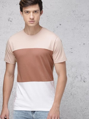 Colourblocked Round Neck Tshirt