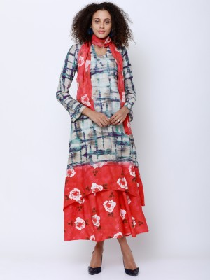 High-Low Colourblocked Kurtas
