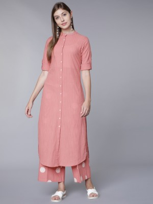 Striped Slim Fit Kurta Sets