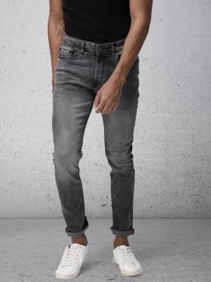 Black/Grey Slim Fit Jeans