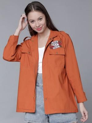 Rust Open Front Jacket
