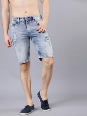 Slim Fit Denim Shorts