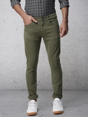Dusty Olive Slim Fit Jeans