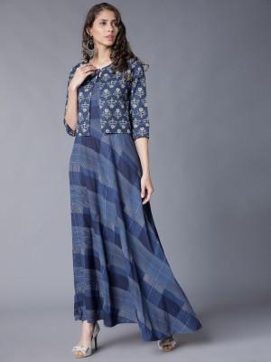 Checked Maxi Dress